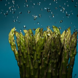 Asparagus with Falling Water